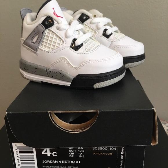 983879bda29 Jordan Shoes | Toddler Air Retro 4 2016whitecement | Poshmark